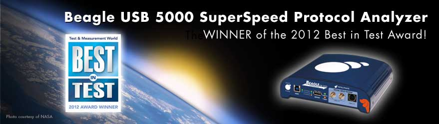 2012 Best in Test Winner - Beagle USB 5000 Analyzer