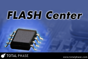 Flash Center Software can be used with the Aardvark I2C/SPI Host Adapter