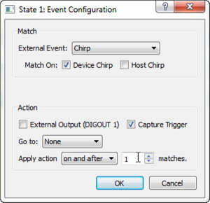 Configure Beagle USB Protocol Analyzer to Trigger on Chirp