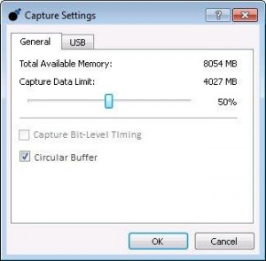 Configuring the Data Center Software Capture Settings to Save Memory for Storing Data