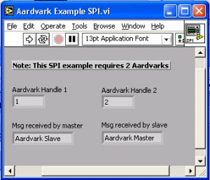 Sending SPI Data between Aardvark Host Adapters