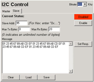 Setting Max Rx Bytes for the Aardvark Adapter in I2C Slave Mode