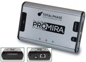 Promira Serial Platform can be used with I2C and SPI devices