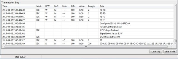 Control Center Serial Software can be easily used to view, log and analyze data