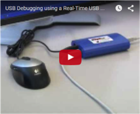 USB Debugging using a Real-Time USB Bus Monitor Video