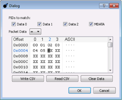 Data Center Software - Simple Matching dialog box