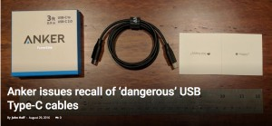 Defective USB Type-C cables can put high voltage and current on the line at the wrong time
