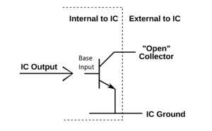 Open-collector output transistors