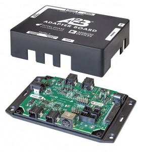 Secure A2B board to enclosure base plate