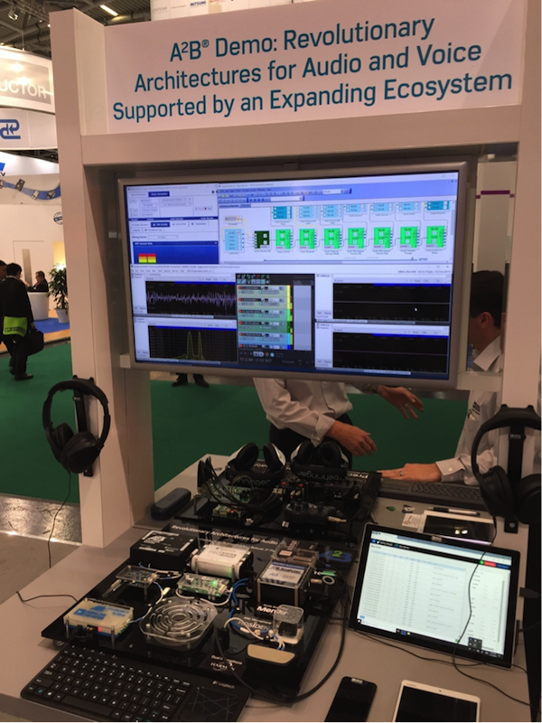 Analog Devices display of A2B bus and Promira Serial Platform