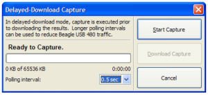 Delayed Download Capture dialog from Data Center Software