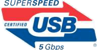 SuperSpeed USB logo supporting 5 Gbps