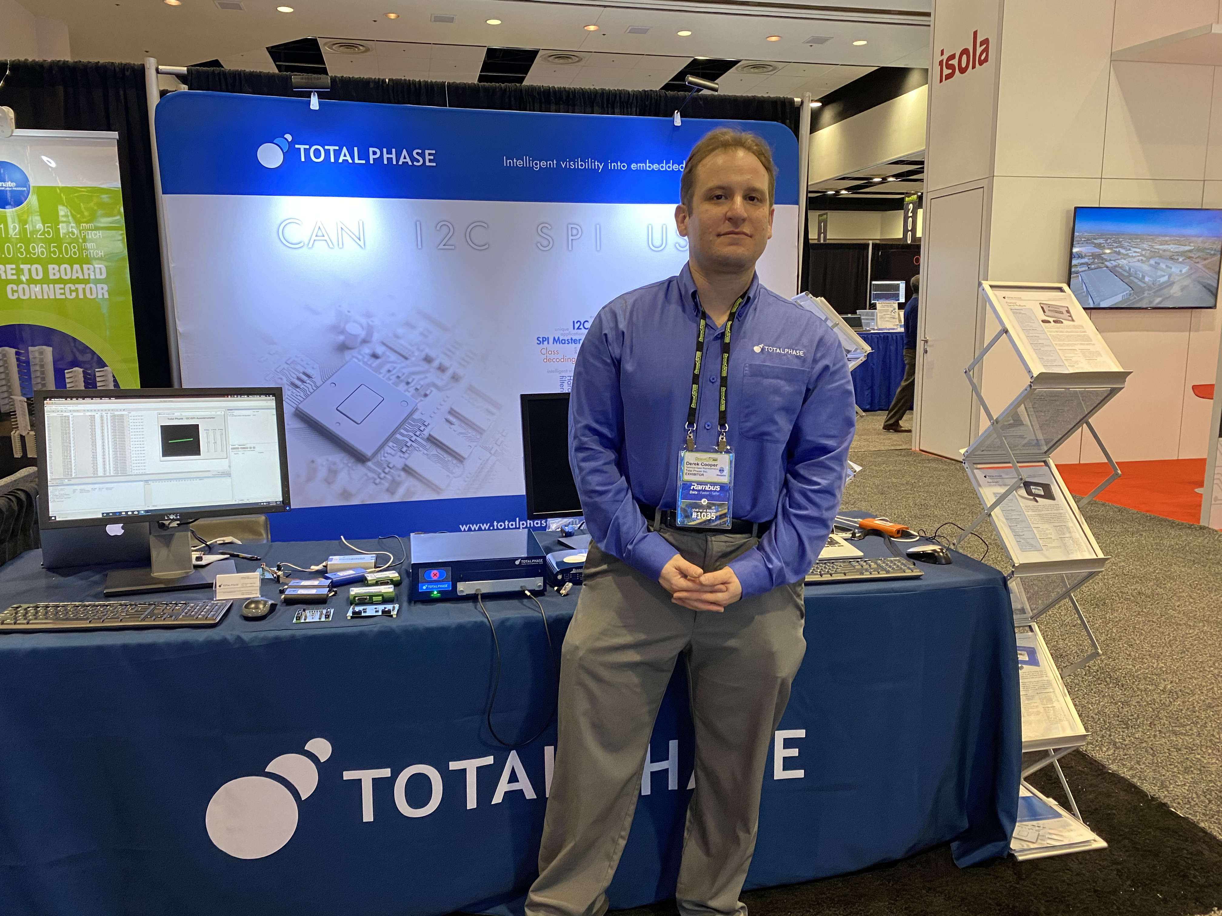 Total Phase booth and staff