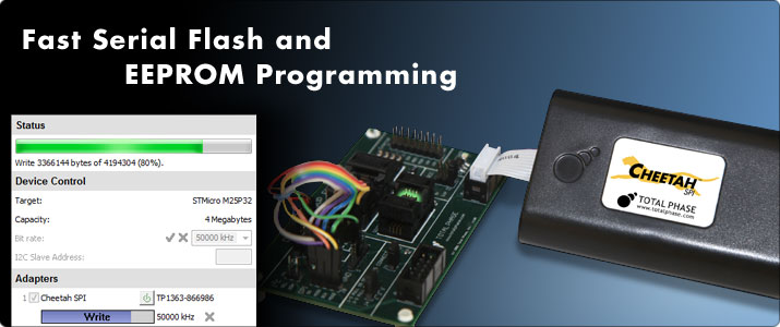 Fast Serial Flash and EEPROM Programming