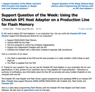 Blog: Support                  Question of the Week
