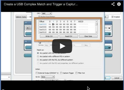 USB Complex Triggers