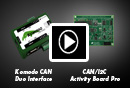 Komodo GUI Software with CAN/I2C Activity Board Pro