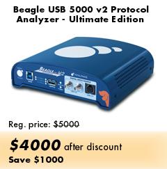 Beagle USB 5000 v2 Protocol Analyzer - Ultimate Edition