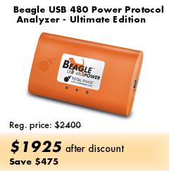 Beagle USB 480 Power Protocol Analyzer - Ultimate Edition