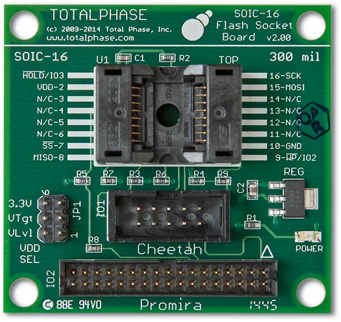 Flash SOIC-16 Socket Board 10/34 Schematic