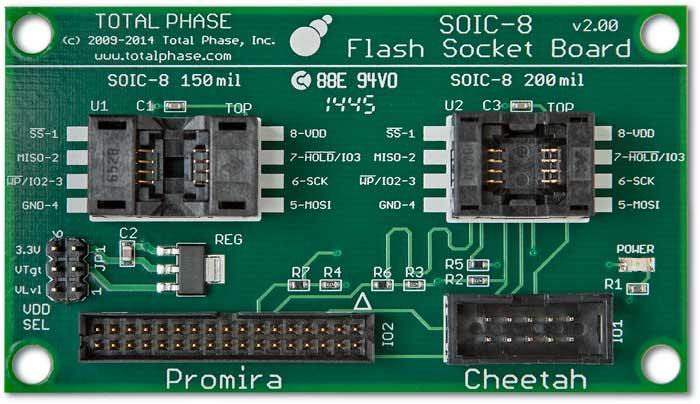 Flash SOIC-8 10/34 Socket Board